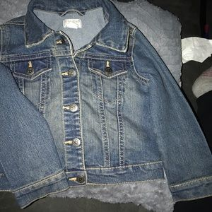 3T snap button jean jacket